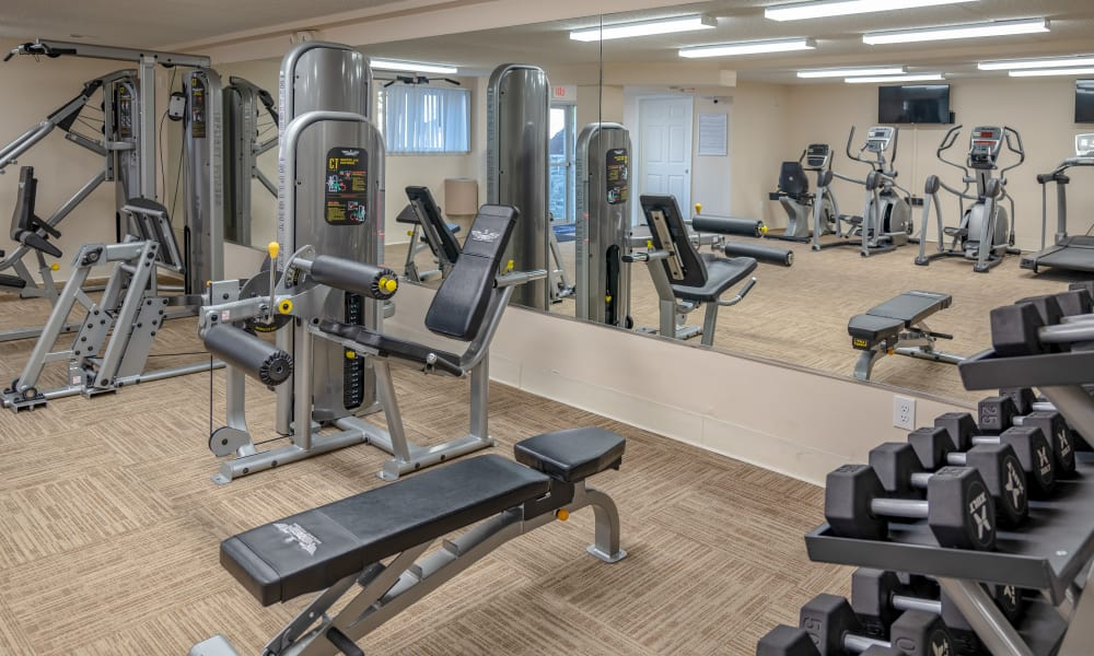 Enjoy our beautiful apartments fitness center at Curren Terrace in Norristown, Pennsylvania