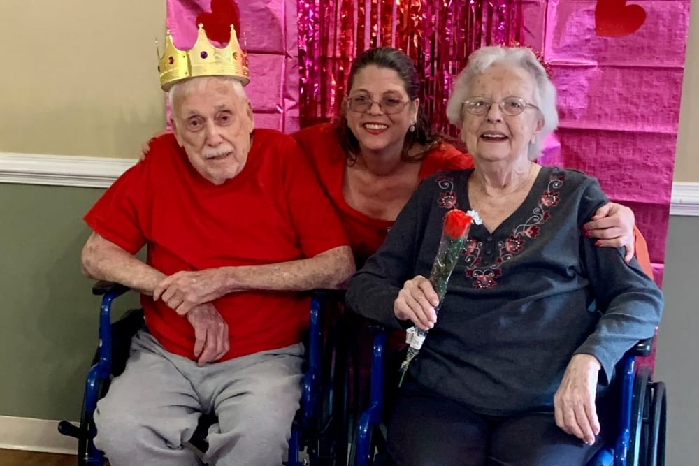 Happy residents at Magnolias of Chesterfield in Chester, Virginia
