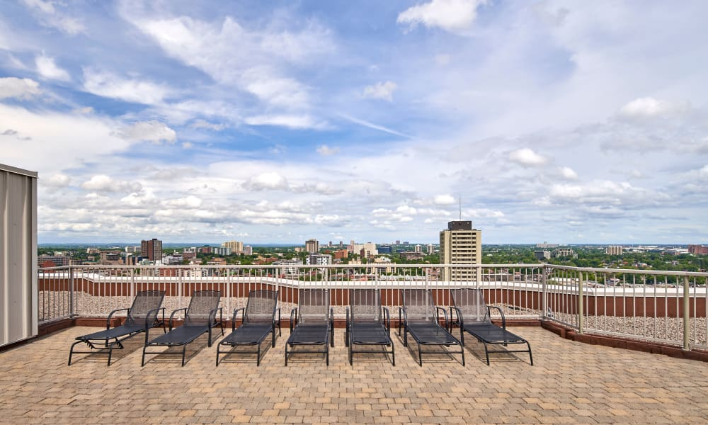 Rooftop lounge at 50 Laurier in Ottawa, Ontario