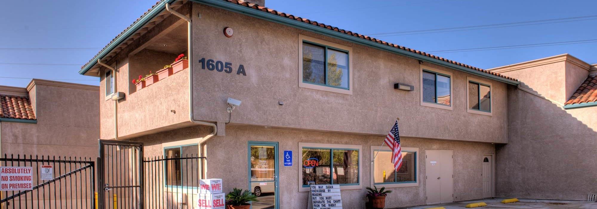 Branding on the exterior of Olivenhain Self Storage in Encinitas, California