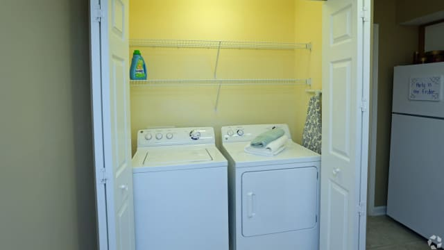 Washer and dryer at Peppertree in Montgomery, AL
