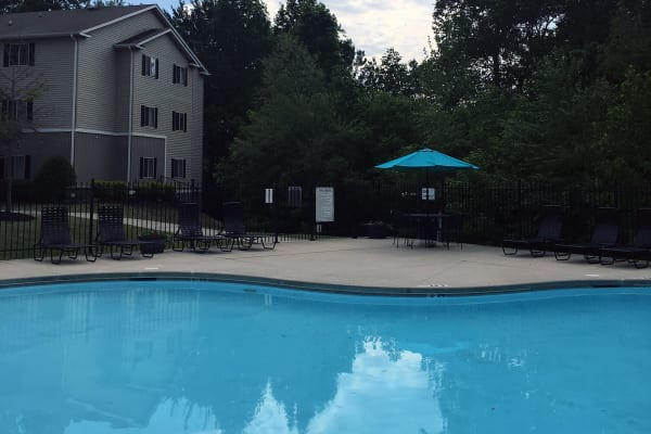 Outdoor pool at Villas at Lawson Creek in Boiling Springs, South Carolina