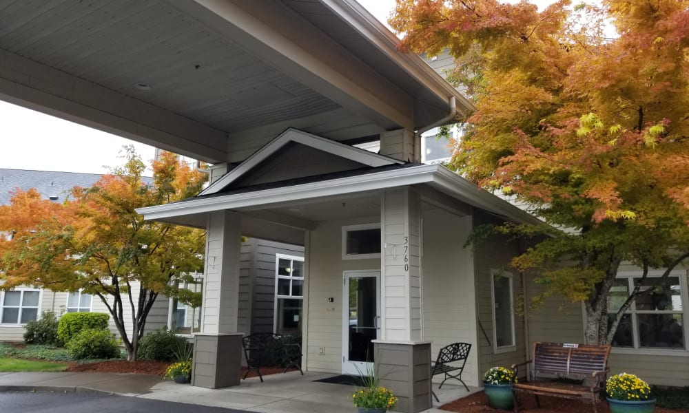 Front of the office at Evergreen Senior Living in Eugene, Oregon