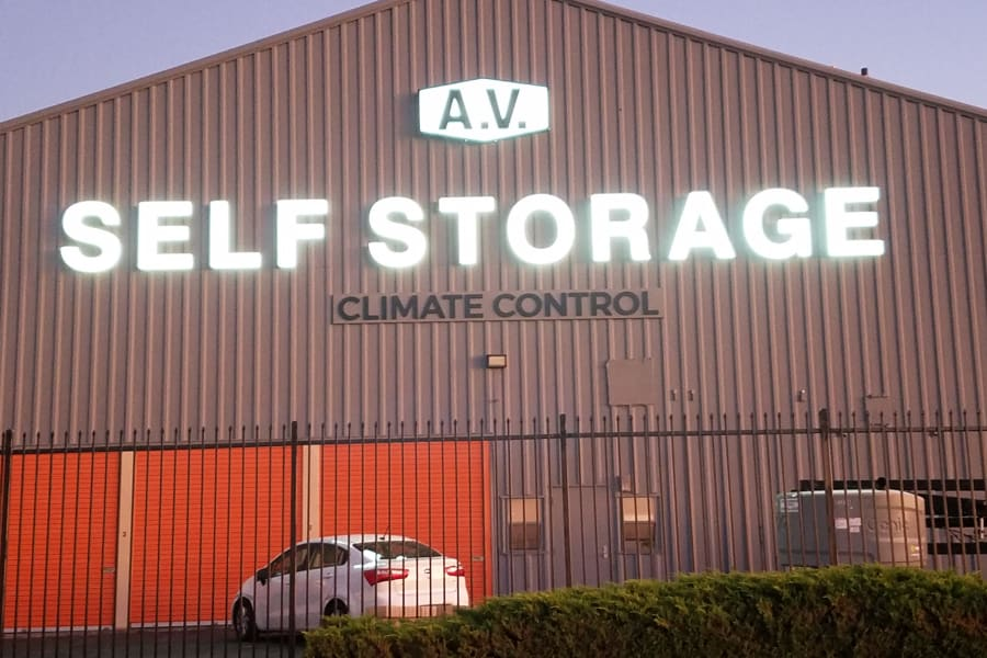 Self storage facility at AV Self Storage in Palmdale, CA