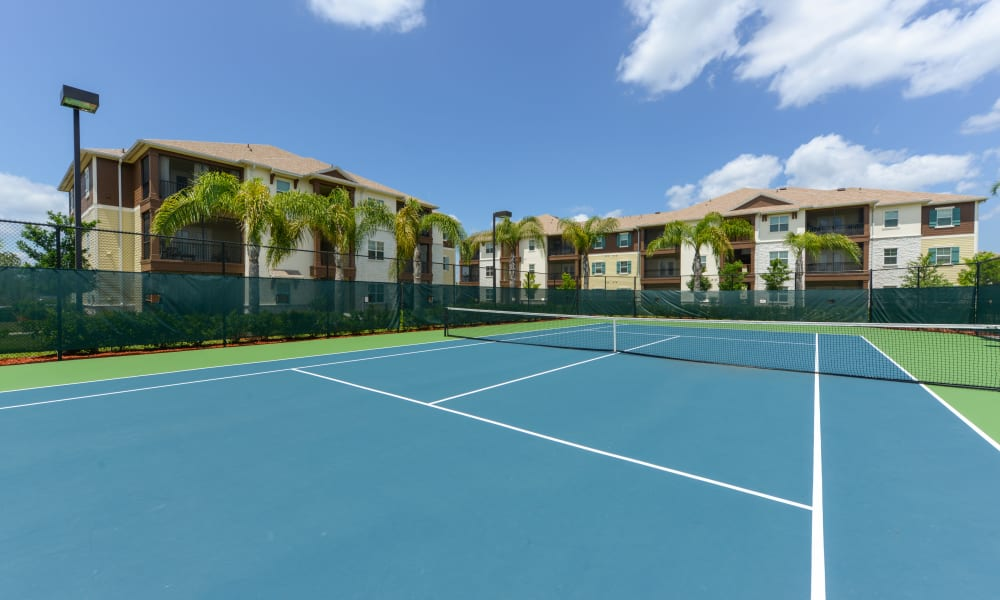 Onsite tennis courts at Cabana Club and Galleria Club in Jacksonville, Florida