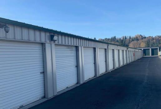 Exterior units at ABC Mini Storage in Pacific, WA