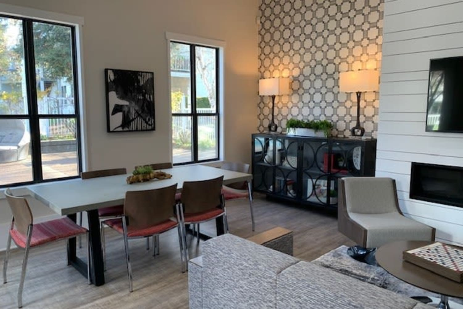 Open floor plan living at Cotton Wood Apartments in Dublin, California