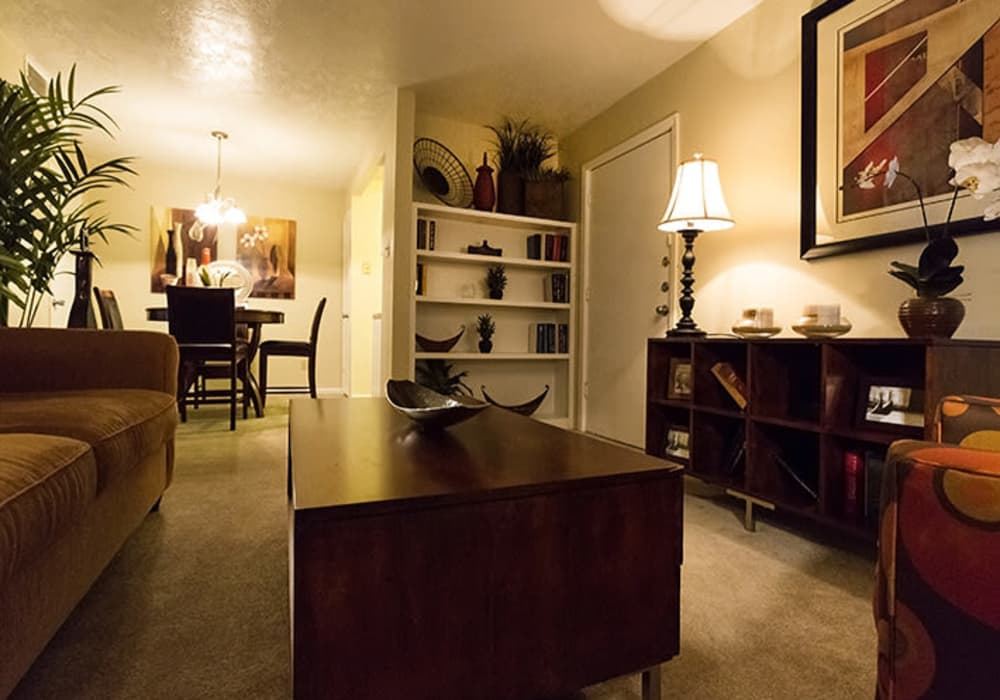 Cozy living space at Riverstone Apartments in Bryan, Texas
