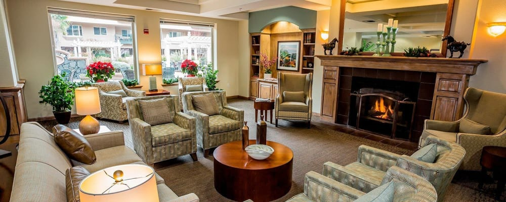 Upscale senior apartment with hardwood floors at The Springs at Anna Maria in Medford, Oregon