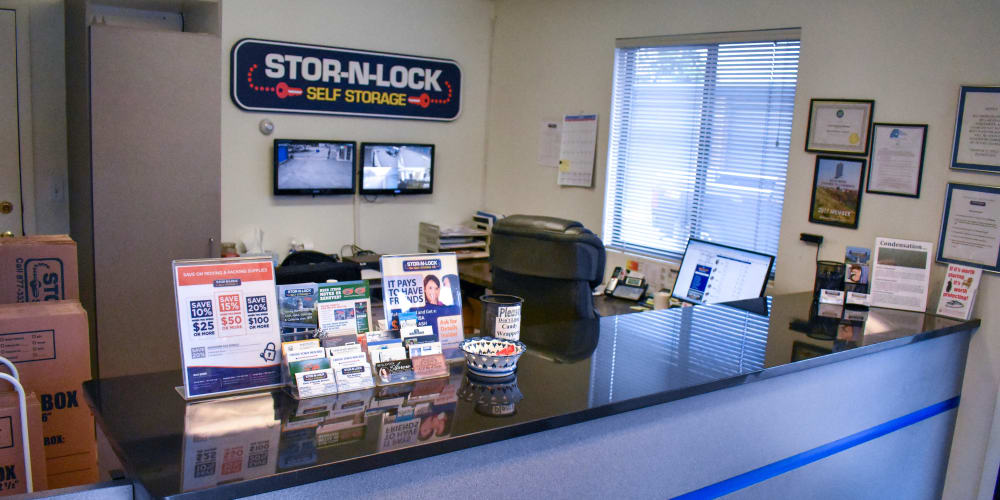 Inside the office at STOR-N-LOCK Self Storage in Boise, Idaho