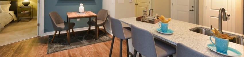 Beautiful apartment interior at Axis Berewick in Charlotte, North Carolina