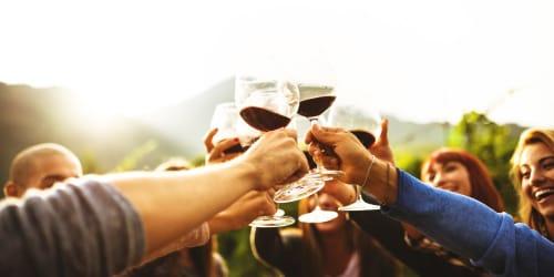 Cheers near Hawthorn Village Apartments in Napa, California