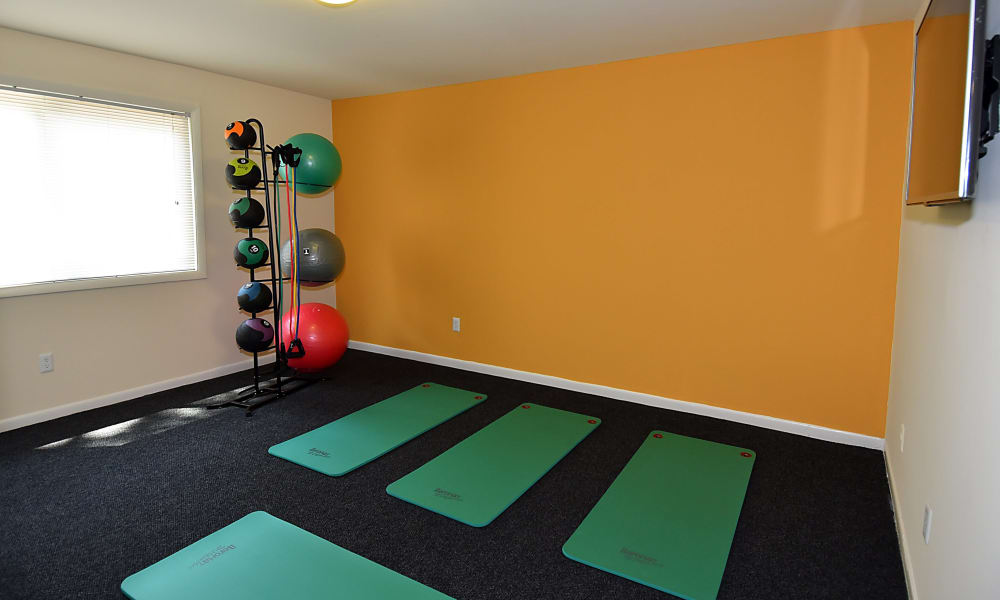 Fitness center at Harbor Place Apartment Homes