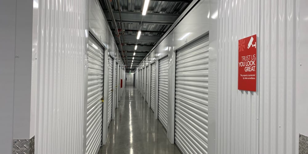 Indoor climate controlled units at StorQuest Self Storage in Redmond, Washington