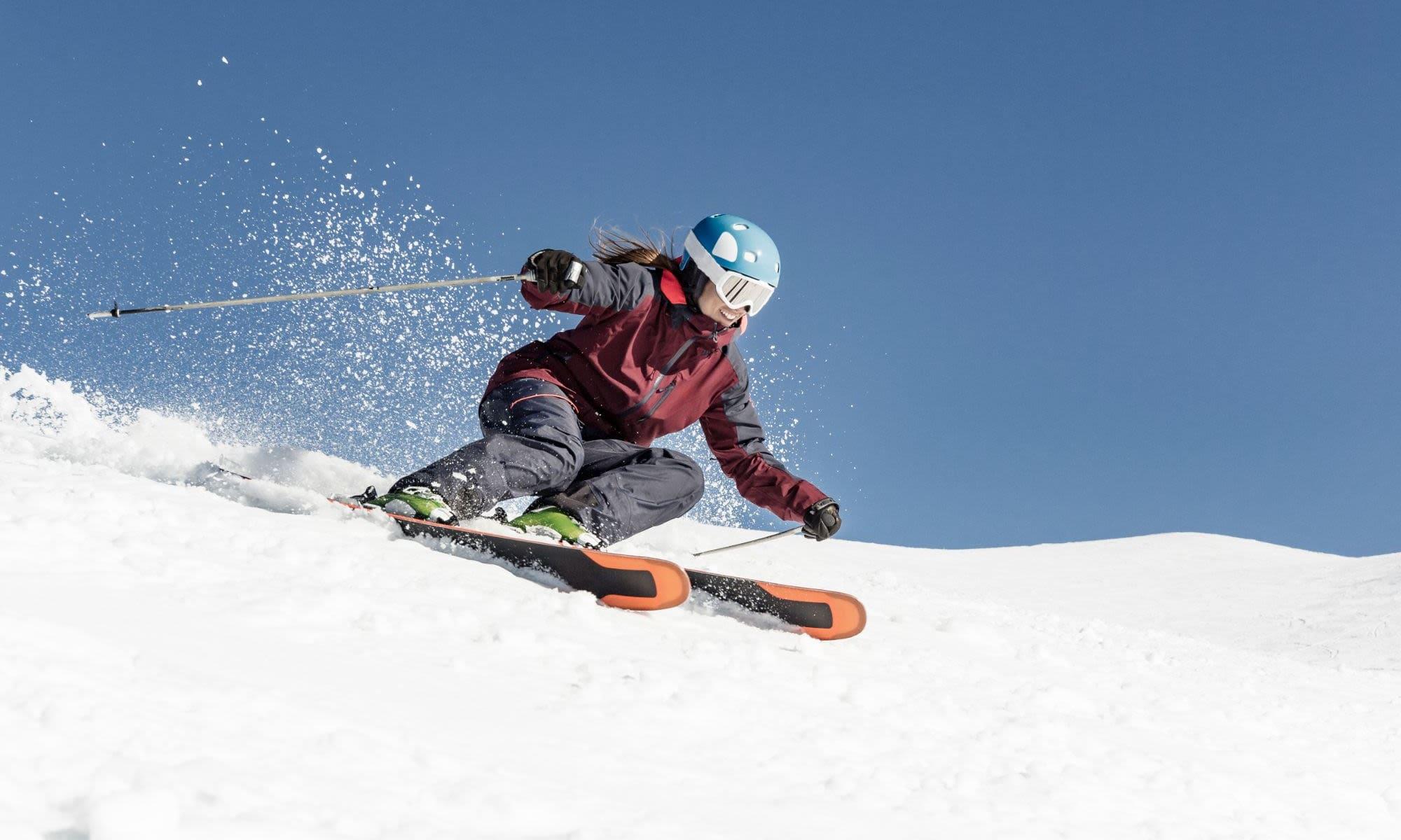 Skiing the mountain near Liberty SKY in Salt Lake City, Utah