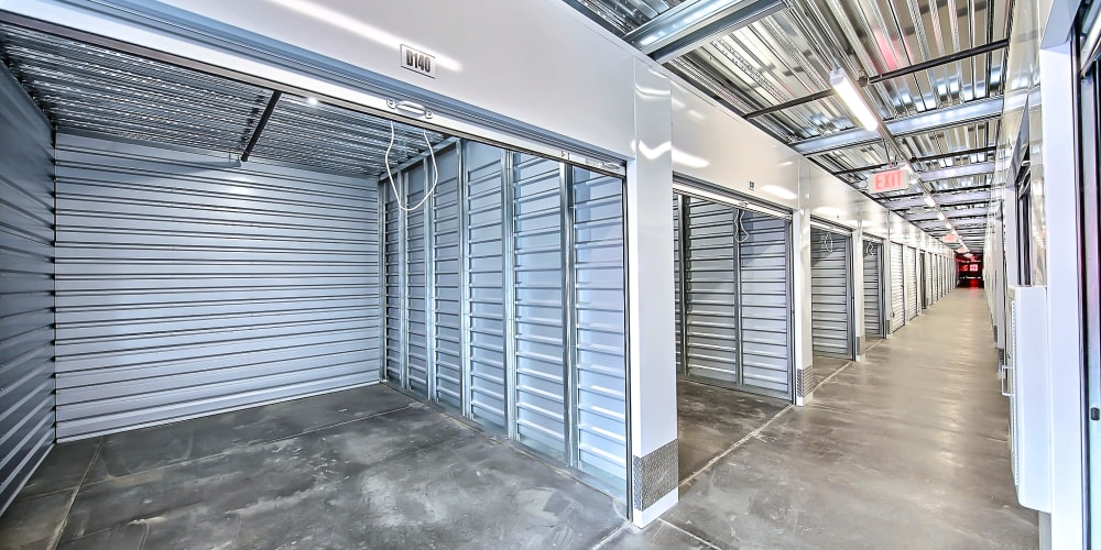 Indoor climate controlled units at StorQuest Self Storage in Brentwood, California