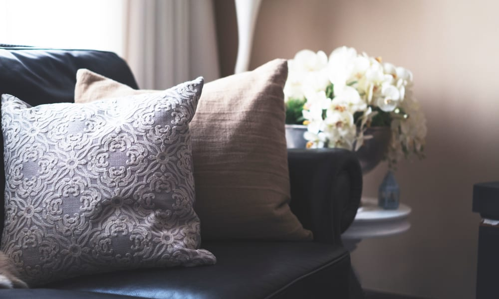 Pillows and flowers at Abrams Hall Senior Apartments in Washington, District of Columbia
