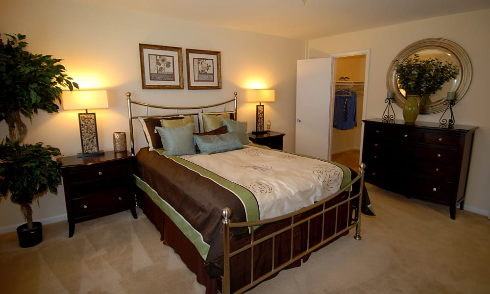 Spacious bedroom at Harbor Place Apartment Homes