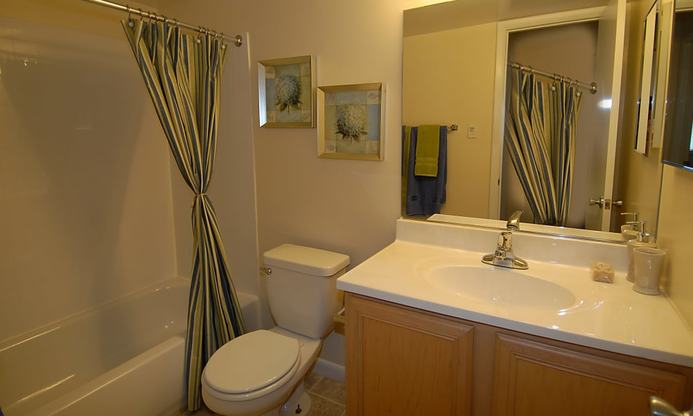 Bathroom at Harbor Place Apartment Homes