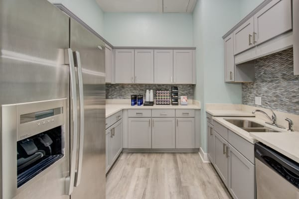 Clubhouse kitchen at Ingleside Apartments in North Charleston, South Carolina