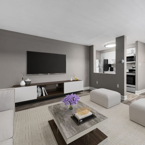 Living room at Southglenn Place in Centennial, Colorado