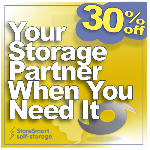Hurricane promotion at StoreSmart Self-Storage in Rockledge, FL