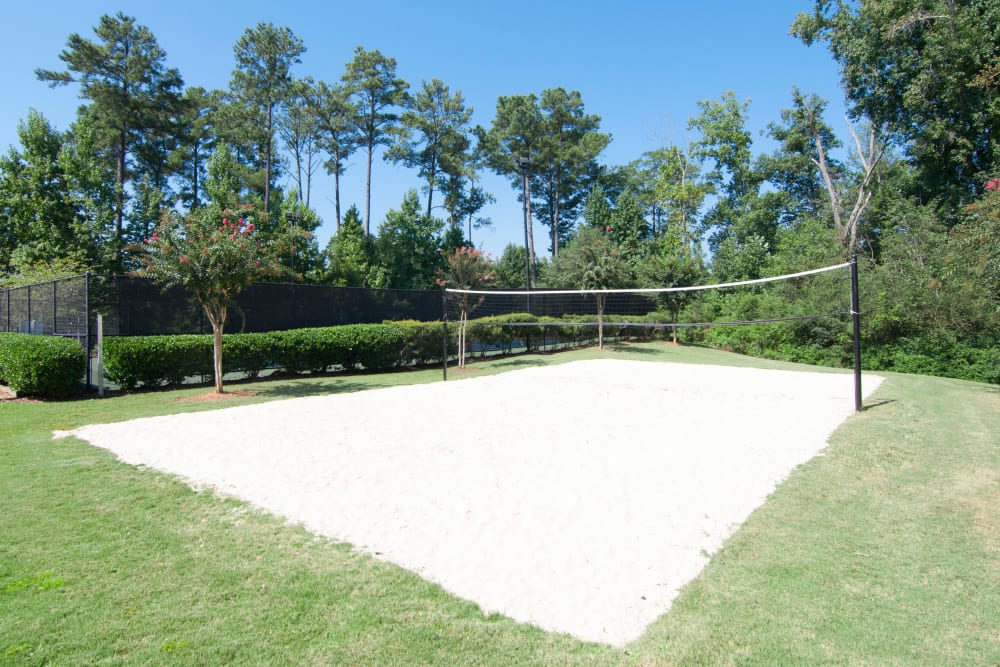 Volleyball court at Amber Chase Apartment Homes in McDonough, Georgia