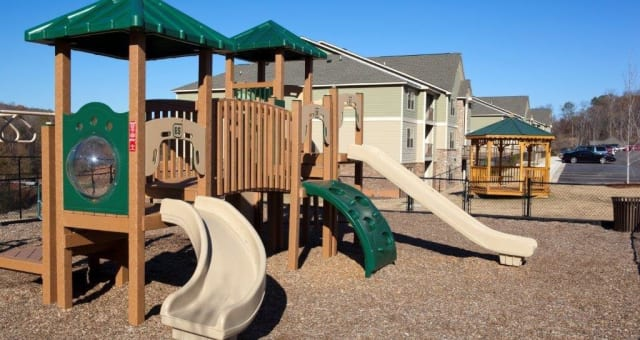 Spacious playground at The District at Phenix City in Phenix City, Alabama