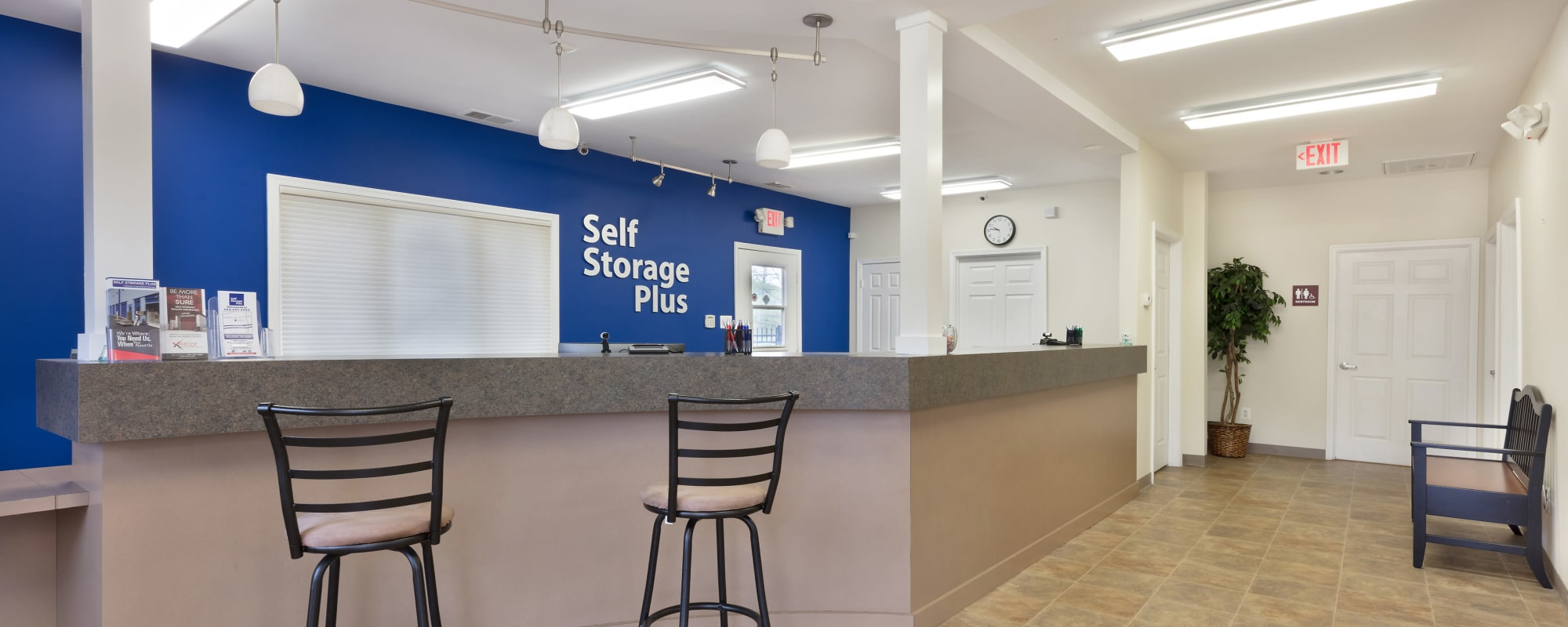 Leasing office at Self Storage Plus in Alexandria, VA