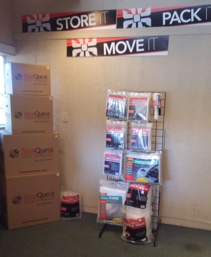 Packing supplies available at StorQuest Self Storage in San Rafael, California