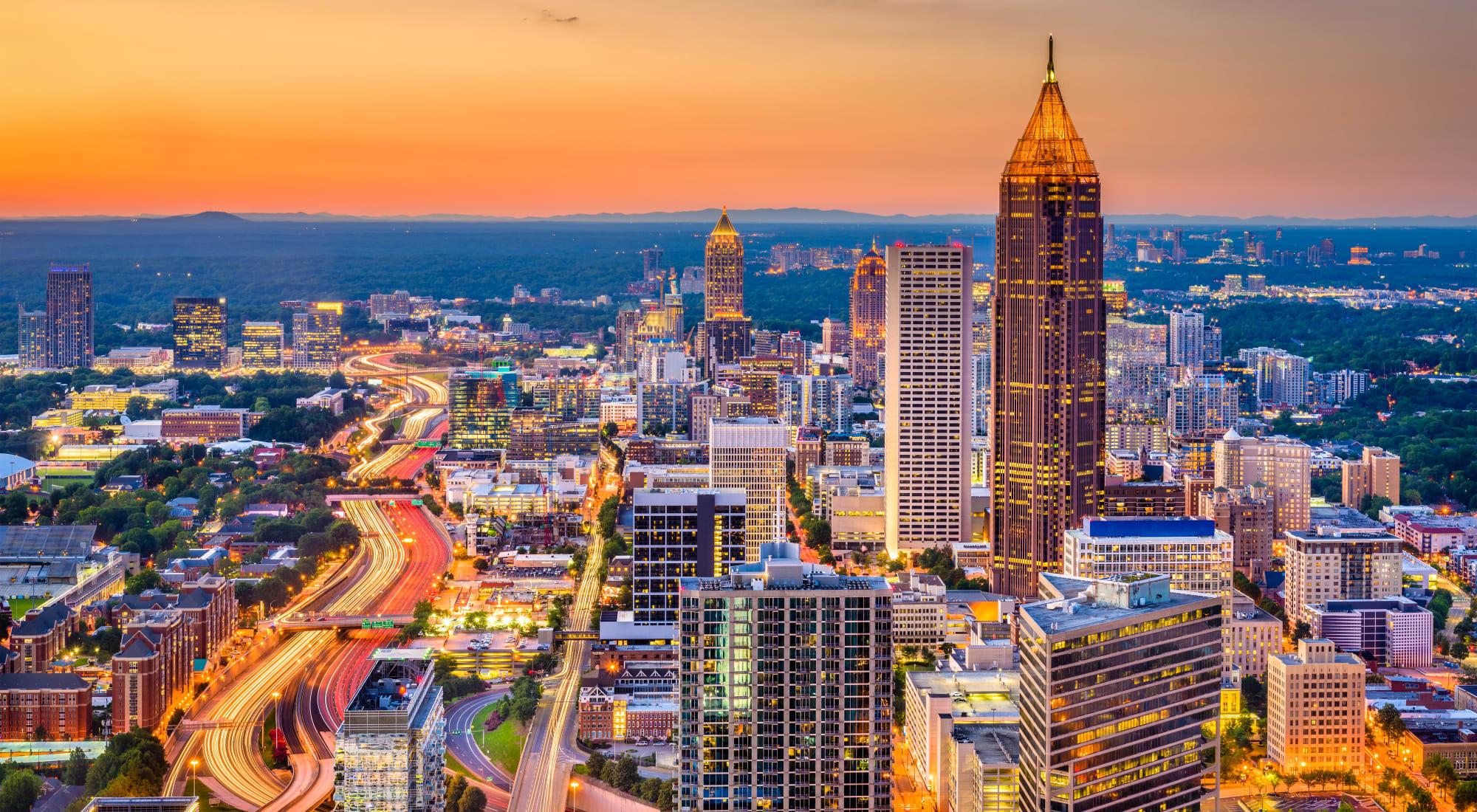 Atlanta skyline where Castlegate Property Group is located