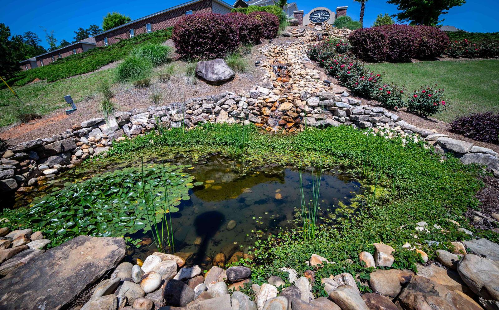 Lake view at Pavilion at Plantation Way in Macon, Georgia