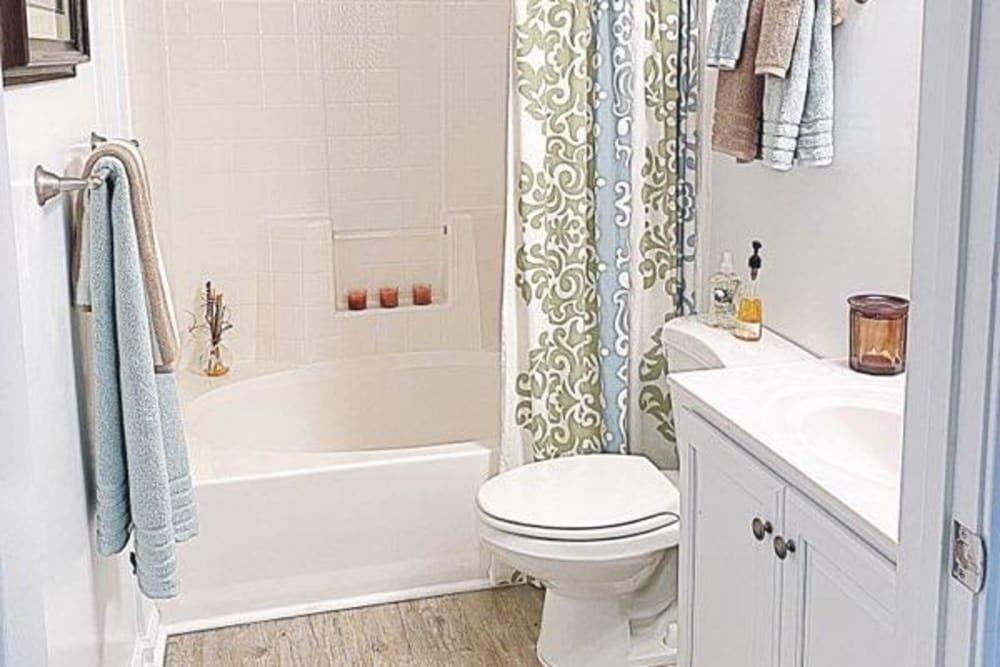 Large bathroom at Glade Creek Apartments in Roanoke, Virginia