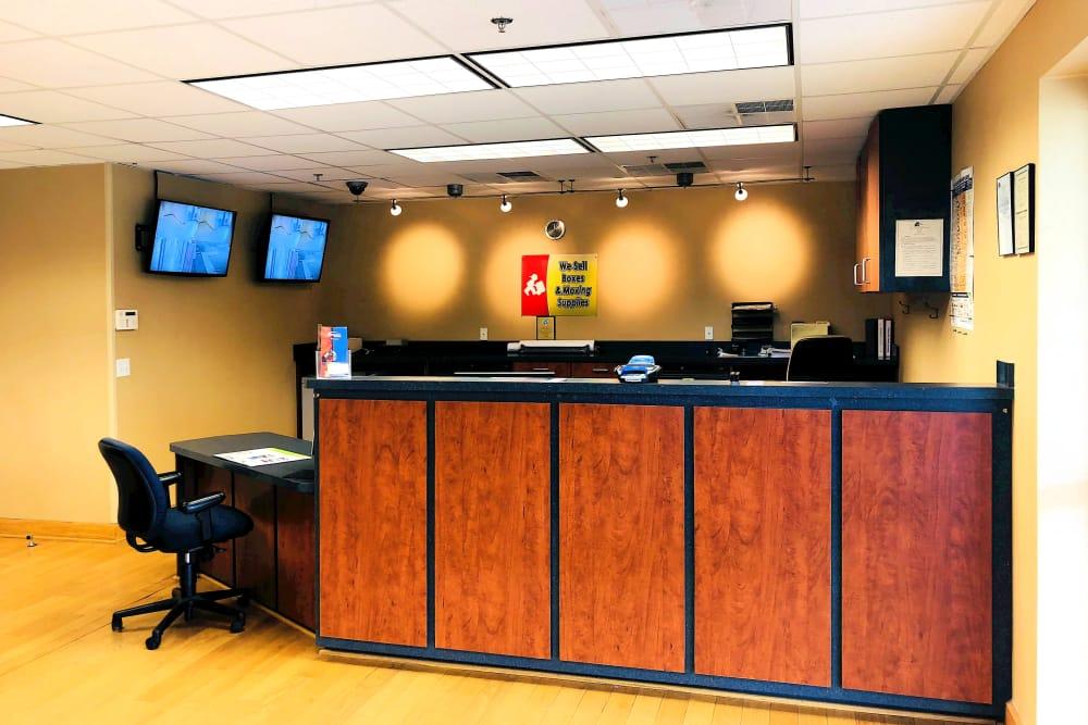 Leasing desk at Climatrol Self Storage in Williamsburg, Virginia