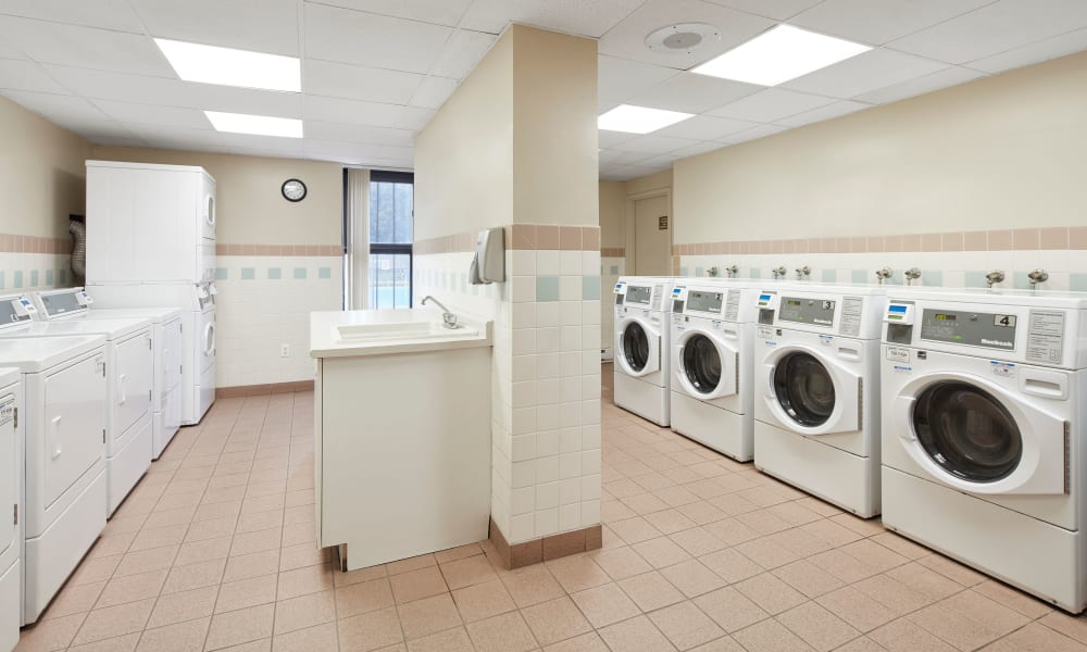 Laundry center at The Waterford Tower in Mississauga, Ontario