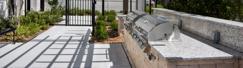 Outdoor grilling station at Integra Lakes in Casselberry, Florida