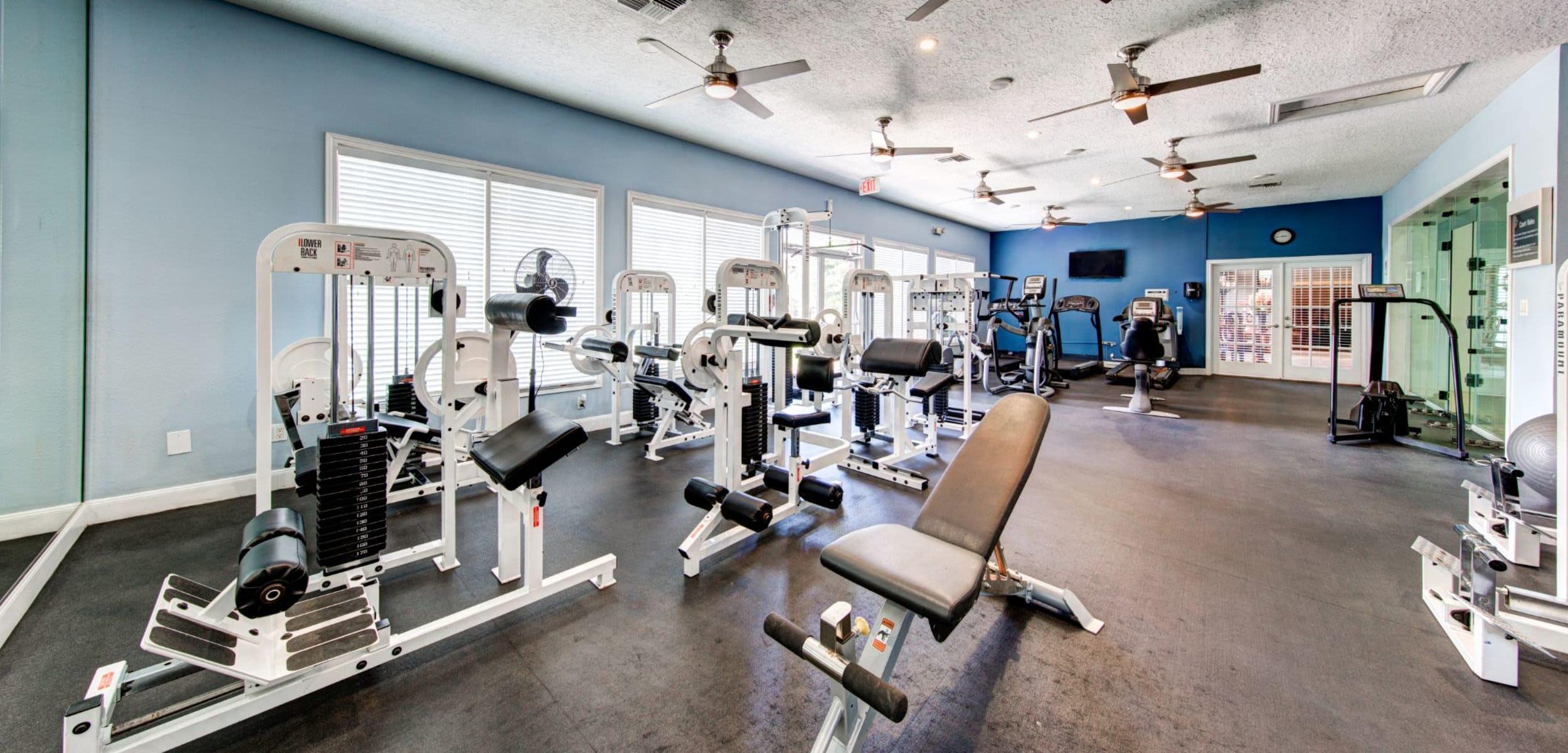 Fitness center at Marquis at Silverton in Cary, North Carolina