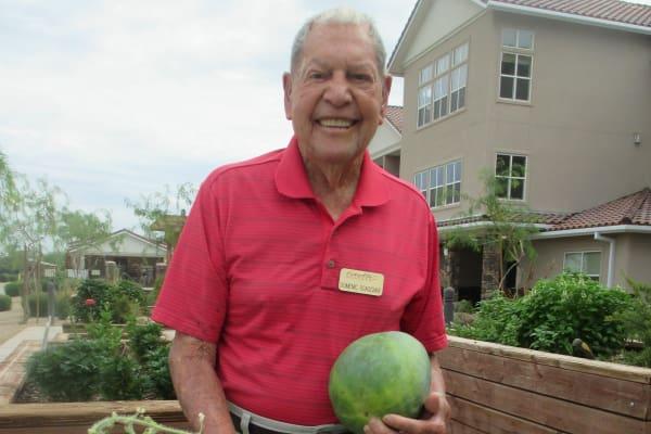 Domenic Scaggiari at Estrella Estates Gracious Retirement Living in Goodyear, Arizona