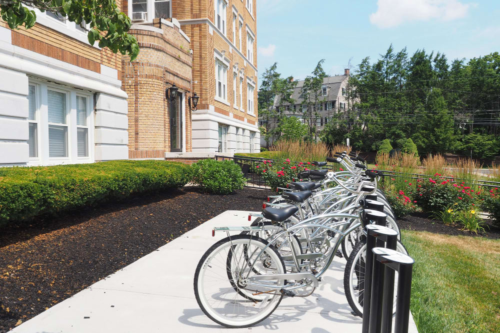 The Packard offer security in our parking bike in West Hartford, Connecticut