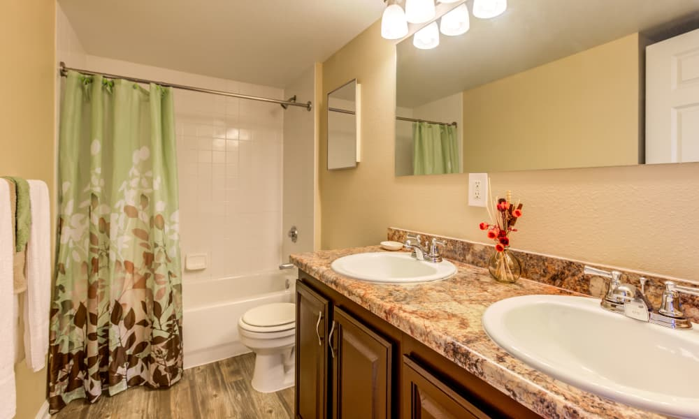 Large Bathroom at Belle Creek Apartments in Henderson, Colorado