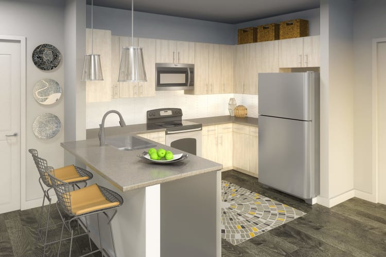 Fully-equipped kitchen at Ellison Heights Apartments