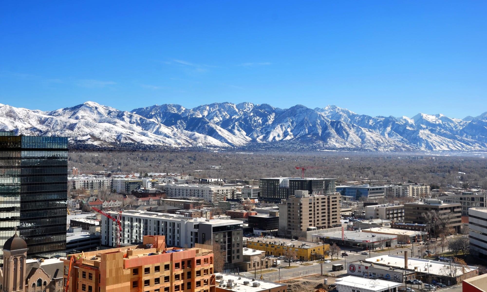 Views from the 16th floor at Liberty SKY in Salt Lake City, Utah