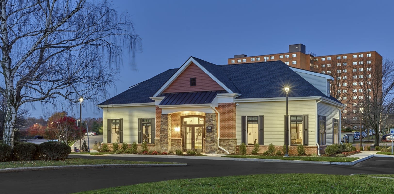 Our leasing office welcoming residents and their guests to The Mills at Lehigh in Bethlehem, Pennsylvania