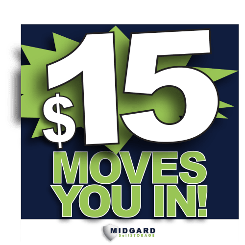 $15 moves you in at Midgard Self Storage in Cocoa, Florida