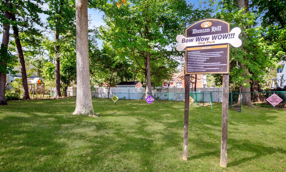 Dog park at Duncan Hill Apartments & Townhomes in Westfield, New Jersey