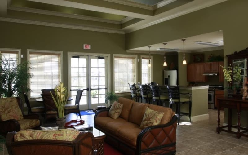 Interior of the Lakeside Apartment Homes clubhouse in Slidell, Louisiana