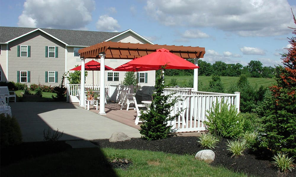 Deck at Traditions of Hanover in Bethlehem, Pennsylvania