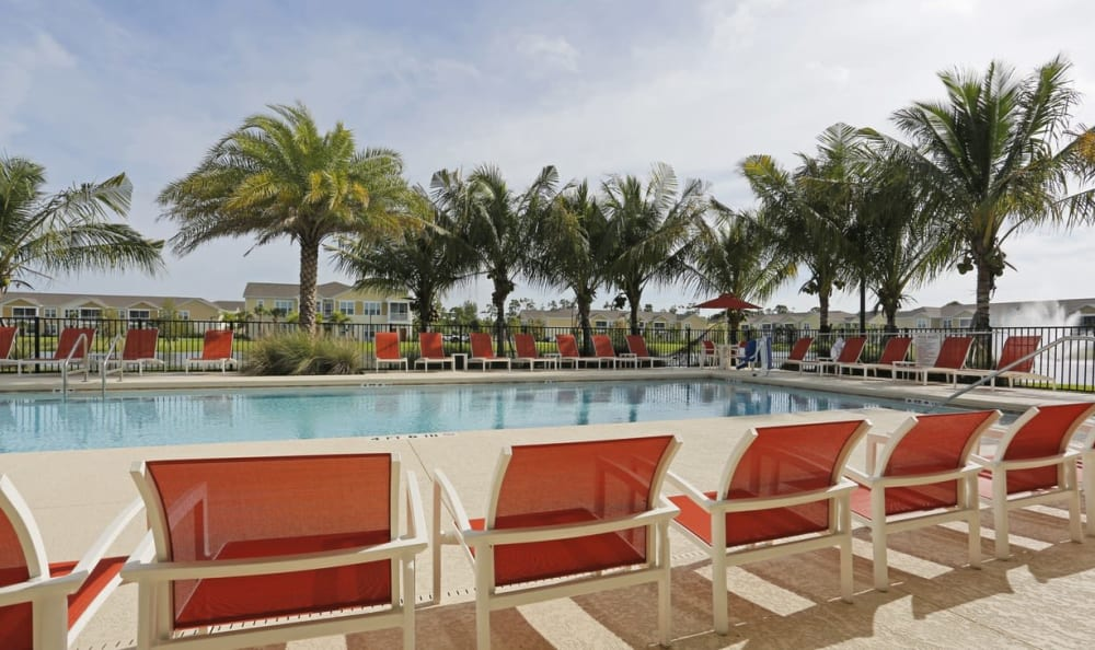 Resort-style pool at Springs at Six Mile Cypressin Fort Myers