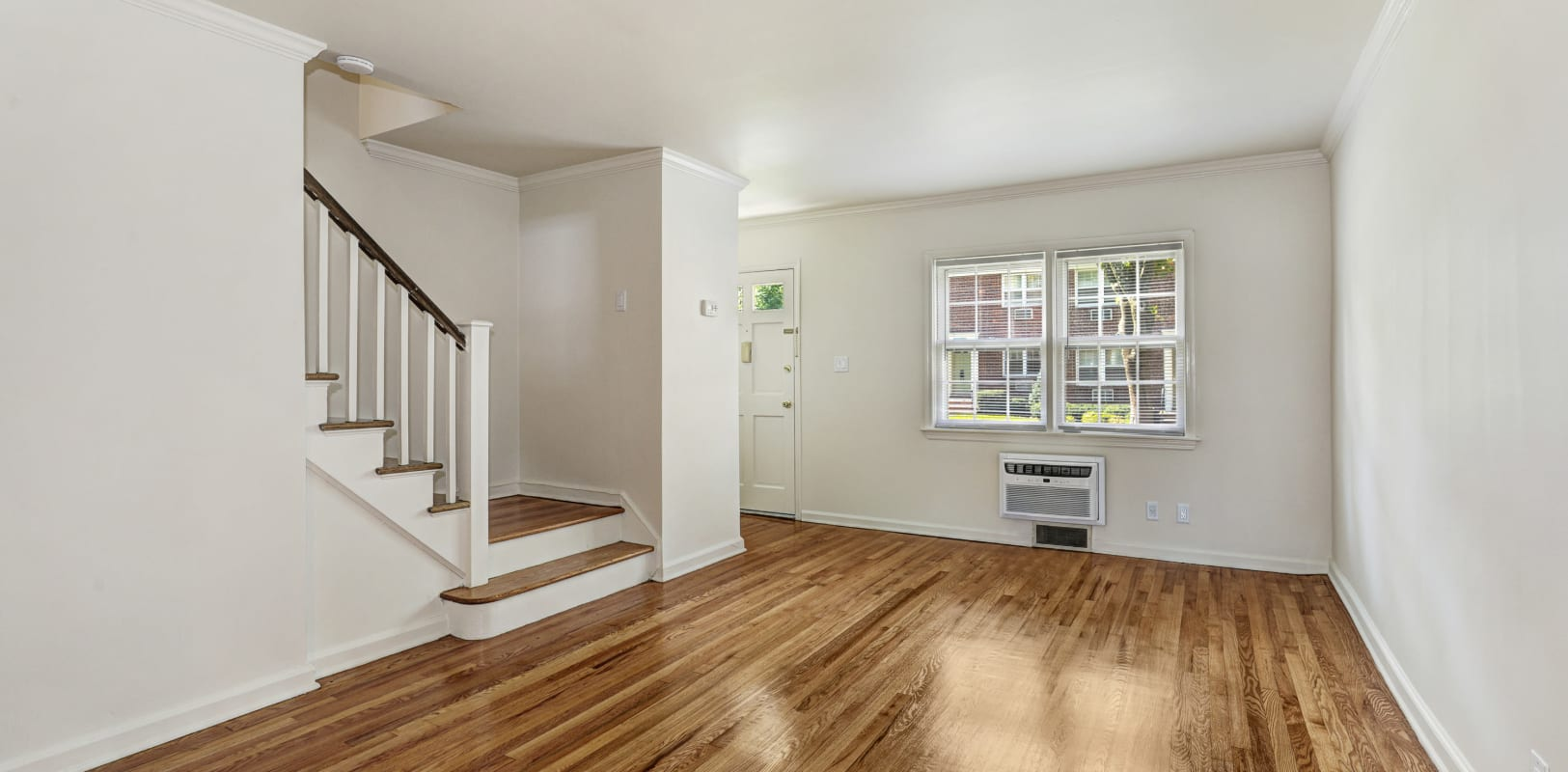 Hardwood flooring on the ground level of a resident home at General Wayne Townhomes and Ridgedale Gardens in Madison, New Jersey