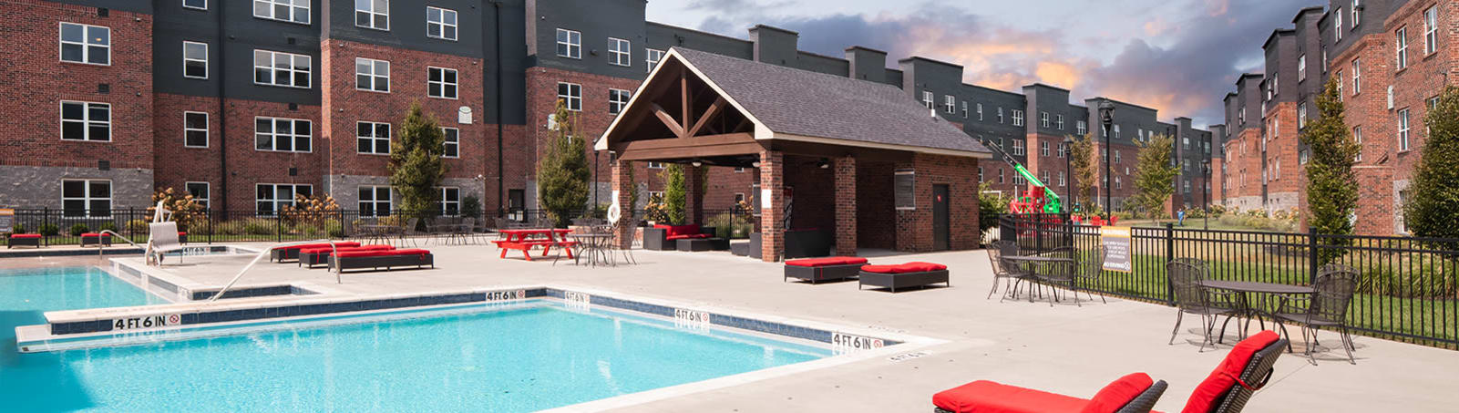 View amenities at Trifecta Apartments in Louisville, Kentucky.